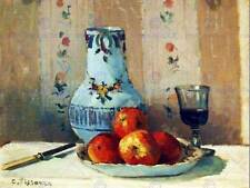 PAINTING STILL LIFE STUDY PISSARRO APPLES AND PITCHER ART PRINT POSTER LAH324