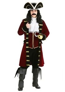 Adult Deluxe Pirate Captain Hook Costume Size S L (with defect)