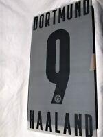 BVB Haaland -9- Spielerflock  für Erw.-Trikot  Borussia Dortmund-Neu,RAR,Lizenz