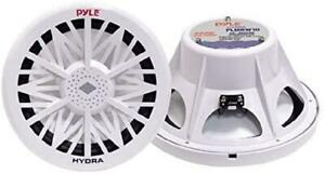 Pyle PLMRW8 8-Inch Outdoor Marine Audio Subwoofer 400 Watt Single White Waterpro