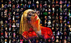 LARGE ORIGINAL MOSAIC PHOTO POSTER IN VARIOUS COLOURS OF SIA FURLER No 4