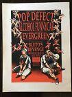 Derek Hess Flyer - Pop Defect, Alcohol Funnycar, Evergreen & Bluto's Revenge