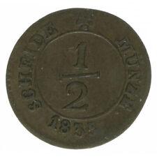 Württemberg, 1/2 Kreuzer 1835, A43482