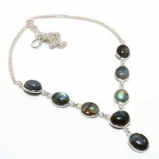 "Gift Jewelry Necklace 18"" A840 Elegant Labradorite Handmade Ethnic Style"