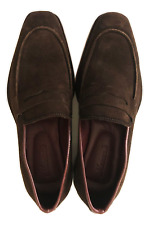 Men's Shoes Penny Loafer Shoes in Suede Full Grain Leather sole