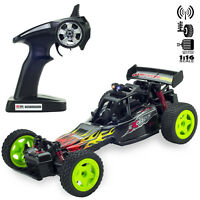 2WD Monster Truck Off-Road Vehicle 2.4G Remote Control Buggy Crawler Car Black