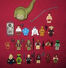 LEGO Star Wars minifigure LOT Jabba,Leia,Boba,Lando,Bib,C-3PO,Kithaba,Max Rebo +