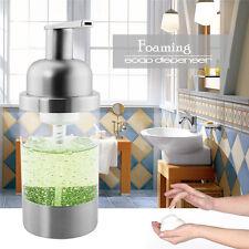 1X Stainless Steel Foaming Foam Soap Dispenser Countertop PS Pump Bottle