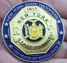 New York State Police Challenge Coin 100th Anniversary Centennial -NYSP not NYPD