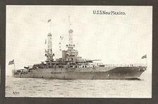 POSTCARD:  US NAVY WORLD WAR 2 BATTLESHIP - U.S.S. NEW MEXICO - Unused