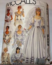 Vintage McCall's 9452 Wedding Dress Pattern sizes 12 14 16