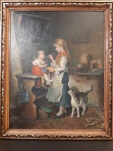 Absolutely Gorgeous Antique/Vintage 1950-1960 Original Oil painting on canvas