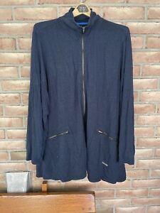 Calvin Klein Performance Jacket Size Plus 3X Quick Dry Full Zipper Charcoal