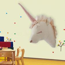 3D Unicorn Animal Head Wall Mount Hanging Door Wall Decoration Kids Toys Gift
