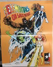 """Elementals Poster Texas Comics 1984 11"""" x 14"""" Bill Willingham Folded Promo"""