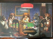 Set of 3 Dogs Animals Playing Poker puzzle 1000 pieces each complete