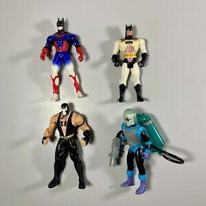 VINTAGE DC Comics Kenner 1993-1997 Bundle Batman Figures x 4 inc Bane Mr Freeze