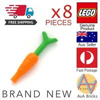 8x Genuine LEGO® - Food - Carrots - Use for your MOCs