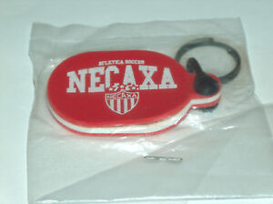 NEW LLavero Necaxa Mexico Team Atletica Soccer Futbol Club Rubber Oval Keychain