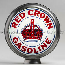 "Red Crown Indiana 13.5"" Gas Pump Globe w/ Steel Body (G166)"