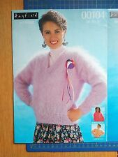 Hayfield Mohair Womens 3 Designs Sweaters Knitting Pattern 00104