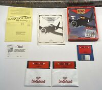 "Wings Of Fury IBM Tandy 100% Compatibles 3.5"" & 5.25"" Broderbund Rare!!"