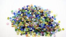 100 Stück Glasperlen Glas Perlen Katzenauge Cabochons Bunt Basteln (1019)