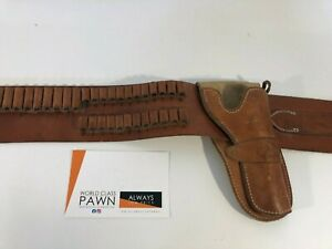 """EL PASO SADDLERY 44"""" BELT WITH HOLSTER RIG, 45LC, 45-70, LEATHER"""