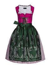 BERWIN & WOLFF LANDHAUS Baumwolle LeineDirndl pink grün weiss 38 Taftschürze NEU