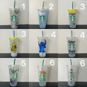 Personalised Starbucks Cup With Straw