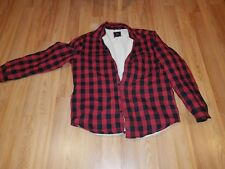 Gap Winter Coat Black Red Style XL Men Button up