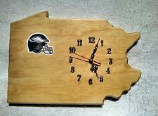 NFL Philadelphia Eagles & Pennsylvania state wood wall clock with team log0