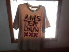 Nwt Mens T Shirt Size M Amsterdam Hip Tan Floral Bowery Supply Co