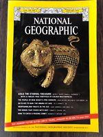 NATIONAL GEOGRAPHIC January 1974 GOLD TREASURE Hmong of Laos NEWFOUNDLAND Heron