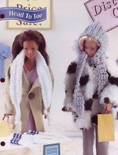 Head To Toe Socks & Scarves for Barbie Annie's Attic Crochet Pattern Leaflet NEW