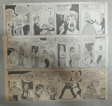 (96) Archie Dailies by Bob Montana from 1-4,1948 Size: 3 x 8 inches