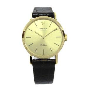 ROLEX GENEVE Cellini Ref.4109 L9* Ladies Manual-winding Wristwatch YG750 05277