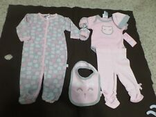 Baby Girl's Pink/White & Gray 6 Pc Outfit by Duck Duck Goosse, Size 3/6 Mos NWT