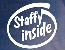 STAFFY INSIDE Car/Van/Window/Bumper Sticker for Staffordshire Terrier Dog Owners