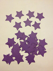 50 cadburys purple card stars wedding crafts, scrapbooking, table confetti