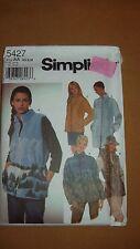 Simplicity 5427 Misses Vest and Jacket - sizes XS,S.M