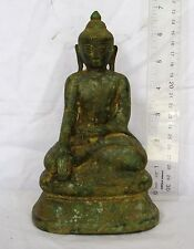 MAGNIFICENT! 18th.c Bronze Lanna Chiang Saen  Calling Earth to Witness Buddha
