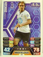 Match Attax 2013/14 Premier League - #322 Christian Eriksen - Tottenham Hotspur