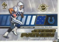 2001 PRIVATE STOCK GAME WORN GEAR PATCH JEROME PATHON