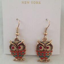 Kate Shade Red Owl Earrings