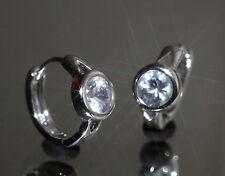 Sparkling 2 x 0.8ct Created Brilliant Solitary Diamond 1.4cm Hoops