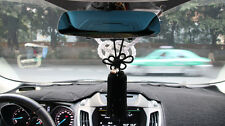 A Set Car Rearview Mirror Charms Vip Gift White Kin Rope & Black Chinese Knot