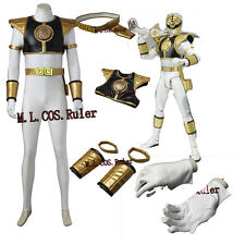 Mighty Morphin Power Rangers Tommy Oliver Cosplay Costume White Ranger jumpsuits