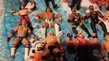 Lot of 17 ACTION figures -wrestlers WWE & WWF  - DOLLS GOLDBERG-THE ROCK OTHERS