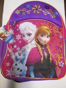 Disney Frozen Anna & Elsa W Olaf Backpack 16in